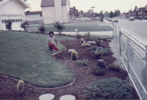 My first landscape design yard in Tacoma, WA - 1981 (That Brian on the yard)