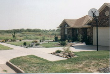 This was my house in Texas - This is what it looked like in summer of 1995. Landscape by Jess