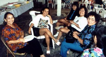 Auntie Beck (Sanchez) and some members of her family ..Fermina Pereda Sanchez Pickelsimer, Anita Pereda Sanchez, Claudia Rene Sanchez Pickelsimer (Sister), and Patricia Pereda Sanchez.